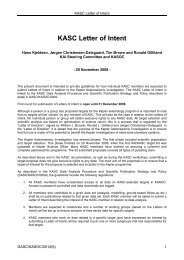 KASC Letter of Intent - Aarhus Universitet