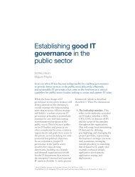 Establishing good IT governance in the public sector