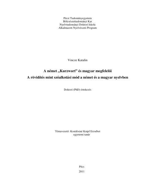 Magyar rövidítések listája