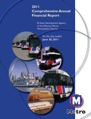 Comprehensive Annual Financial Report - Metro Transit