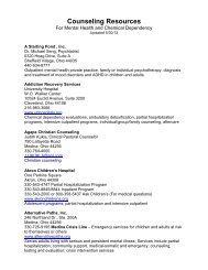 Counseling Resources - Medina County Career Center