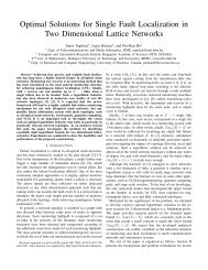 Optimal Solutions for Single Fault Localization in Two Dimensional ...