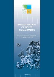 Implementation of MCPFE Commitments (2003-2007) - Forest Europe