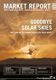 GOODBYE SOLAR SKIES - Hanseatic Brokerhouse