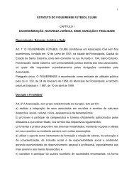 1 ESTATUTO DO FIGUEIRENSE FUTEBOL CLUBE CAPÍTULO I DA ...