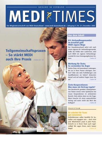 Teilgemeinschaftspraxen - MEDI Deutschland