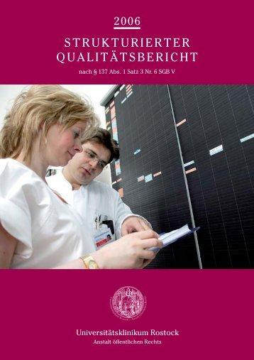 2006 Strukturierter Qualitätsbericht Nach § 137 Abs. 1 Satz  3 Nr. 6 ...
