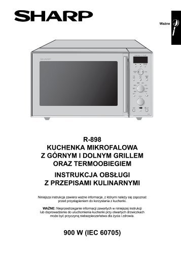 R-898 Operation-Manual/Cook-Book PL - Sharp