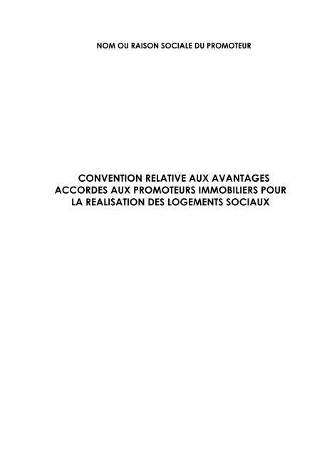convention relative aux avantages accordes aux promoteurs ...
