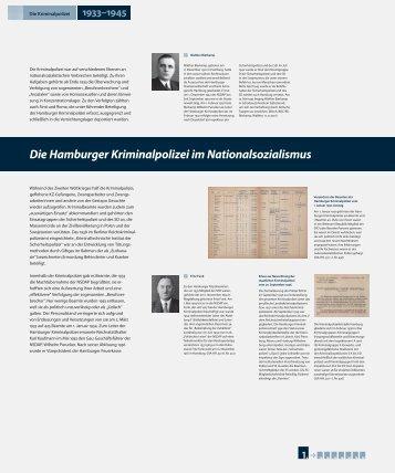 Die Hamburger Kriminalpolizei im Nationalsozialismus