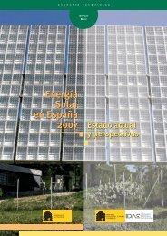 Energía Solar en España 2007. Estado actual y perspectivas - Aperca