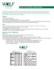 Download the WOLF PVC Decking Installation ... - Niece Lumber