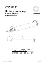 CELSIUS 70 Notice de montage Mounting instruction ... - Sammode
