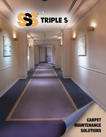 Carpet Maintenance Solutions - All Products - Triple S