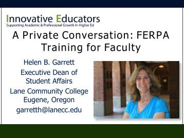 View the FERPA training PowerPoint from January 31, 2012