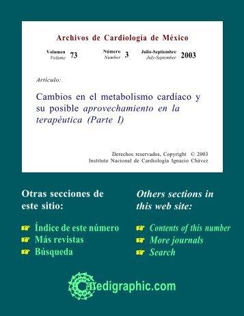 Cambios en el metabolismo cardíaco y su posible ... - edigraphic.com