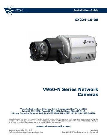 V960-N Series Network Cameras - Vicon