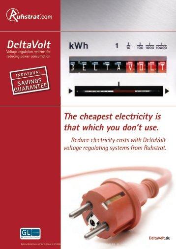Product Catalogue DeltaVolt - Ruhstrat GmbH