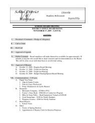 November 17, 2009 - AGENDA - School District of Waupaca