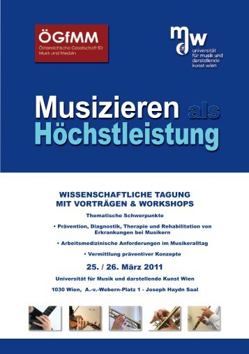 Musizieren als Höchstleistung - Universität für Musik und ...