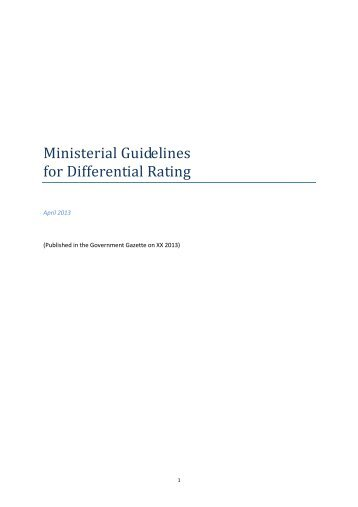 Ministerial Guidelines for Differential Rating - Victorian Local ...