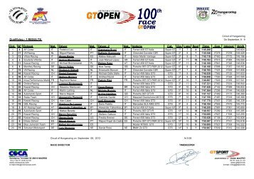 Qualifying 1 - GT Open
