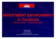 Investment Environment in Cambodia - ACLEDA Bank Plc.