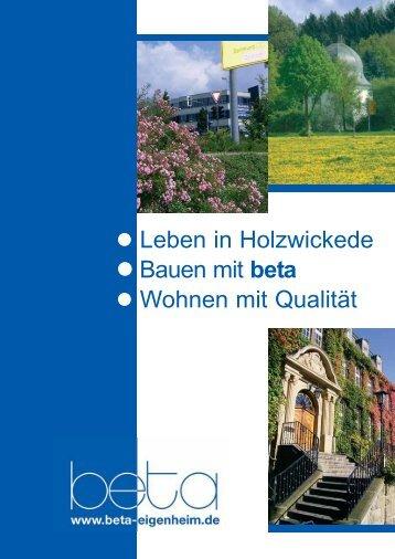 Leben in Holzwickede Bauen mit beta Wohnen mit ... - mediaoffensiv