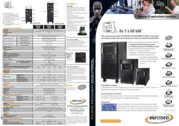 De 1 à 60 kVA* - Infosec