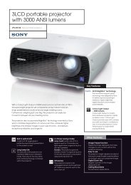 3LCD portable projector with 3000 ANSI lumens - ELVIA Display