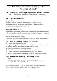 2 Chemicals, Apparatus and Unit Operations of Analytical Chemistry