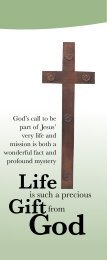 Life is a Precious Gift from God - Sisters of the Holy Cross