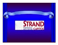 Typical CapLive Customer - Strand-Capitol Performing Arts Center