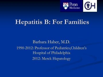 Download PowerPoint - Hepatitis B Foundation