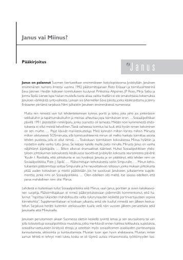 0108 paakirjoitus.pdf - Sosiaalipoliittinen yhdistys ry