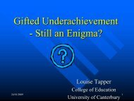 Gifted Underachievement - Still an Enigma? - AAEGT