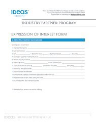EXPRESSION OF INTEREST FORM - IDeaS