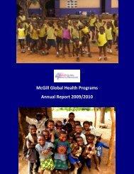 McGill Global Health Programs  Annual Report 2009/2010