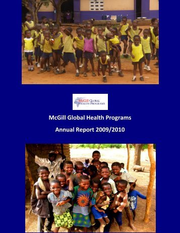 McGill Global Health Programs  Annual Report 2009/2010