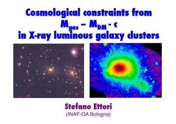 Cosmological constraints from M – M - c in X-ray luminous ... - IPMU