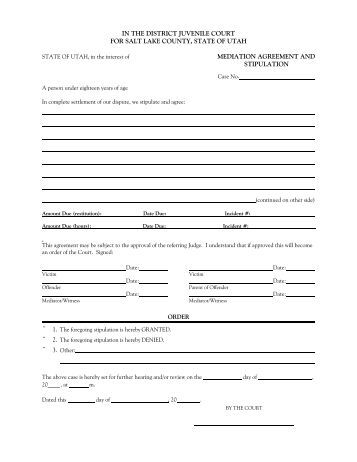 Mediation Settlement Agreement Template  Purchase Agreement