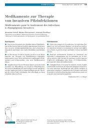 Medikamente zur Therapie von invasiven Pilzinfektionen - Swiss ...