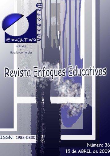 Nº 36 15/04/2009 - enfoqueseducativos.es