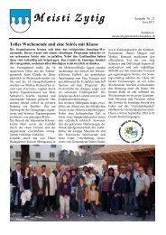 Ausgabe Nr. 21 [PDF, 1.00 MB] - Gemeinde Meisterschwanden