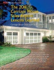 The 2011 Carriage House Sales Report: Lessons ... - Dasma.com