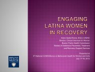 Engaging Latina Women in Treatment - Women, Children and ...