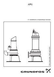 Grundfos sūknis APG - instrukcija - Sanistal