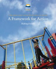 A Framework for Action - Ministry of Children and Family Development