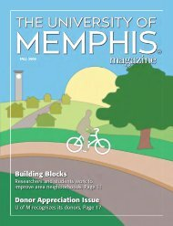 Building Blocks Donor Appreciation Issue - University of Memphis