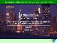 Locked and loaded - The American Club